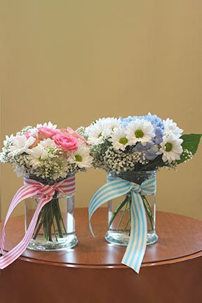 assorted flowers for a new boy or girl