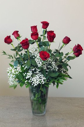Roses with filler and foliage